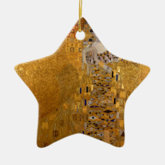 Gustav Klimt - Adele Bloch-Bauer I. Double-Sided Star Ceramic Christmas Ornament