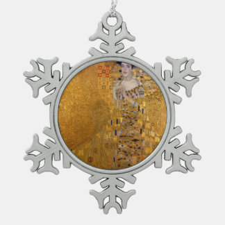 Gustav Klimt - Adele Bloch-Bauer I. Snowflake Pewter Christmas Ornament