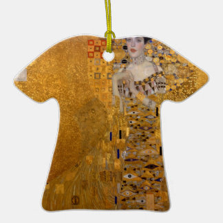 Gustav Klimt - Adele Bloch-Bauer I. Double-Sided T-Shirt Ceramic Christmas Ornament