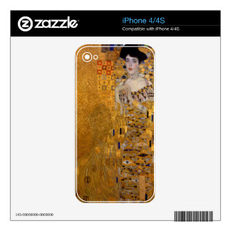 Gustav Klimt - Adele Bloch-Bauer I Painting Decals For The iPhone 4