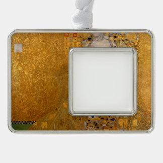 Gustav Klimt - Adele Bloch-Bauer I. Silver Plated Framed Ornament