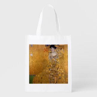 Gustav Klimt - Adele Bloch-Bauer I. Reusable Grocery Bag