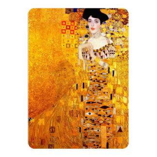 Gustav Klimt Adele Bloch-Bauer Vintage Art Nouveau 5x7 Paper Invitation Card