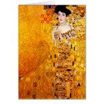 Gustav Klimt Adele Bloch-Bauer Vintage Art Nouveau Card