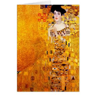 Gustav Klimt Adele Bloch-Bauer Vintage Art Nouveau Greeting Card