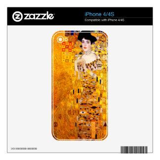 Gustav Klimt Adele Bloch-Bauer Vintage Art Nouveau Decals For iPhone 4S