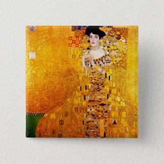 Gustav Klimt Adele Bloch-Bauer Vintage Art Nouveau Pinback Button