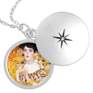 Gustav Klimt Adele Bloch-Bauer Vintage Art Nouveau Round Locket Necklace