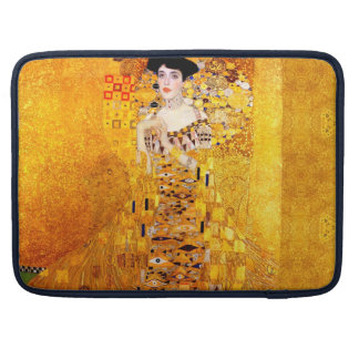 Gustav Klimt Adele Bloch-Bauer Vintage Art Nouveau Sleeves For MacBook Pro