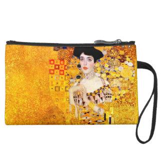 Gustav Klimt Adele Bloch-Bauer Vintage Art Nouveau Suede Wristlet