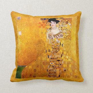 Gustav Klimt Adele Bloch-Bauer Vintage Art Nouveau Throw Pillow