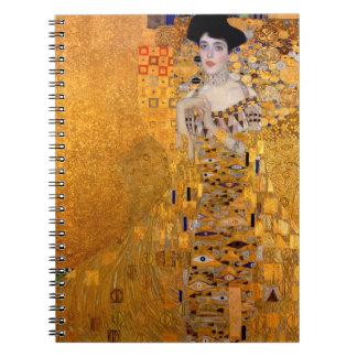 """Gustav Klimt """"Adele"""" Portrait Vintage Spiral Notebook"""