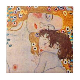 Gustav Klimt Ages of Woman Vintage Ceramic Tile