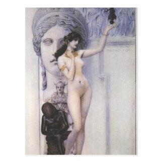 Gustav Klimt Allegory of Sculpture Postcard