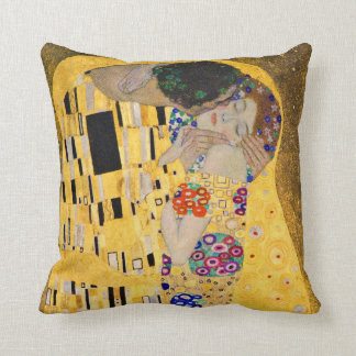 Gustav Klimt and The Kiss Throw Pillow