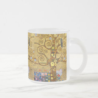 Gustav Klimt and The Tree of Life Frosted Glass Coffee Mug