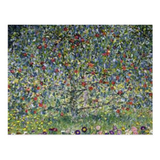 Gustav Klimt - Apple Tree Painting Postcard