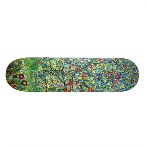 Gustav Klimt: Apple Tree Skate Board