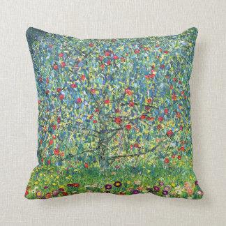 Gustav Klimt: Apple Tree Throw Pillow