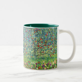 Gustav Klimt: Apple Tree Two-Tone Coffee Mug