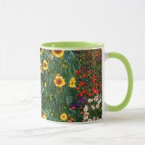 Gustav Klimt art - Farm Garden with Sunflowers Mug