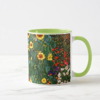Gustav Klimt art - Farm Garden with Sunflowers Mug
