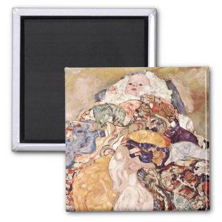 Gustav Klimt ~ Baby 2 Inch Square Magnet