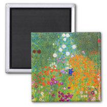 Gustav Klimt Bauerngarten Flower Garden Fine Art Magnet