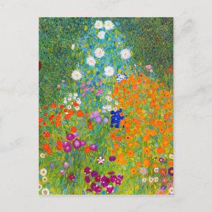 Gustav Klimt Bauerngarten Flower Garden Fine Art Postcard