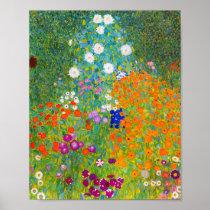 Gustav Klimt Bauerngarten Flower Garden Fine Art Poster