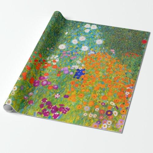Gustav Klimt Bauerngarten Flower Garden Fine Art Wrapping Paper