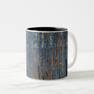 Gustav Klimt Beech Grove GalleryHD Fine Art Two-Tone Coffee Mug