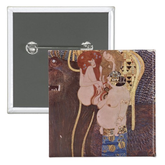 Gustav Klimt - Beethoven Frieze Button