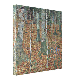 Gustav Klimt - birch Canvas Print