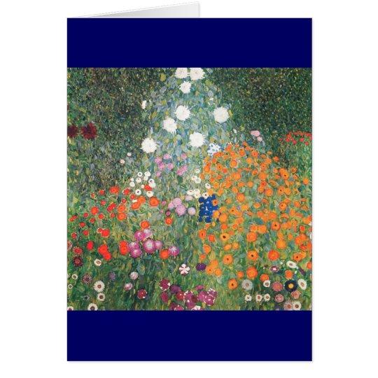 Gustav Klimt Blumengarten Card