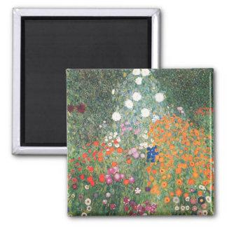 Gustav Klimt Blumengarten Magnet