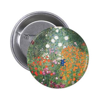 Gustav Klimt Blumengarten Pinback Button