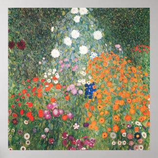 Gustav Klimt  Blumengarten Poster