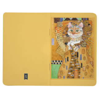 Gustav Klimt Cat in Gold spoof journal
