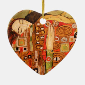 Gustav Klimt Ceramic Ornament