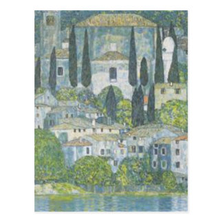 Gustav Klimt - Church in Cassone Art work Postcard