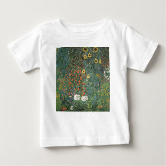 Gustav Klimt - Country Garden Sunflowers Flowers Baby T-Shirt