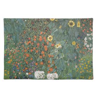 Gustav Klimt - Country Garden Sunflowers Flowers Cloth Placemat
