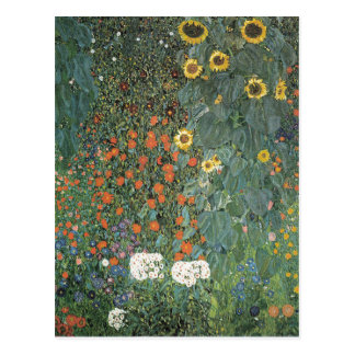 Gustav Klimt - Country Garden Sunflowers Flowers Postcard