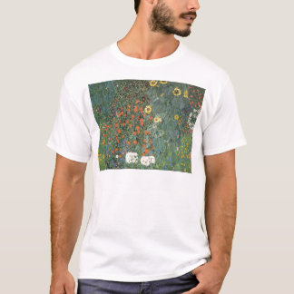 Gustav Klimt - Country Garden Sunflowers Flowers T-Shirt