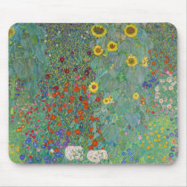 Gustav Klimt - Country Garden with Sunflowers Mouse Pad