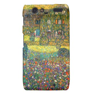 Gustav Klimt: Country House at the Attersee Droid RAZR Cover