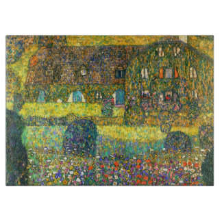 Gustav Klimt: Country House at the Attersee Cutting Board