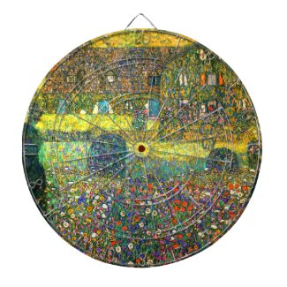 Gustav Klimt: Country House at the Attersee Dart Board