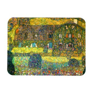 Gustav Klimt: Country House at the Attersee Magnet